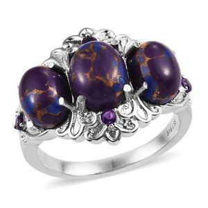 Mojave Purple Turquoise, Amethyst Ring Size